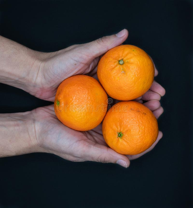 Tangerines from Spain stock image