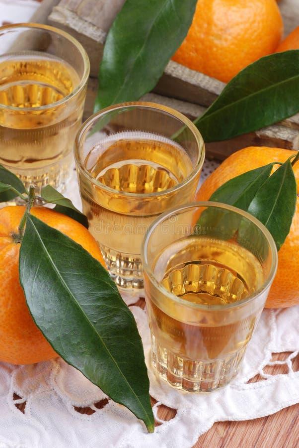 Mandarin liqueur stock photo