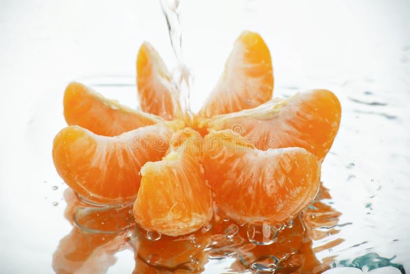 Mandarin onder het water royalty-vrije stock afbeelding
