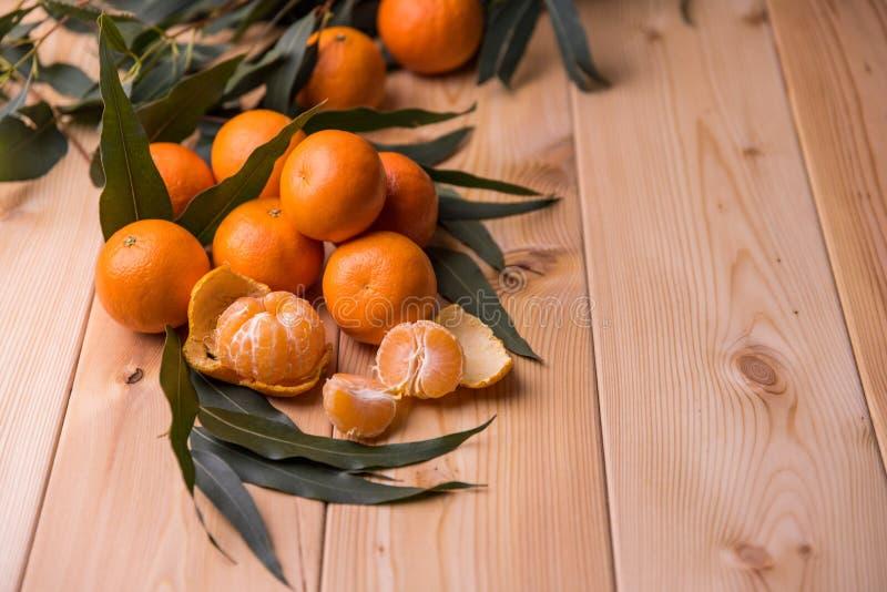 Mandarin op de lijst stock afbeelding