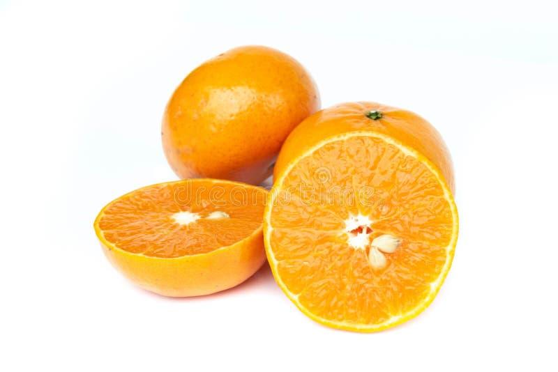 Mandarin orange slice isolated on white background. Mandarin orange slice isolated on white background stock image