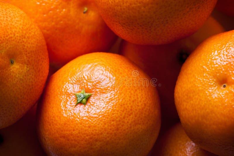 Mandarin oranges. Heap of fresh mandarin oranges, close-up shot as background royalty free stock photography