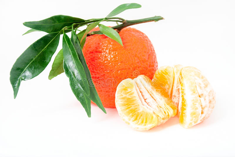 Download Mandarin. Tangerines With Leaves Royalty Free Stock Photography - Image: 28102007