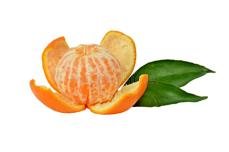Mandarina pelada imagen de archivo libre de regalías