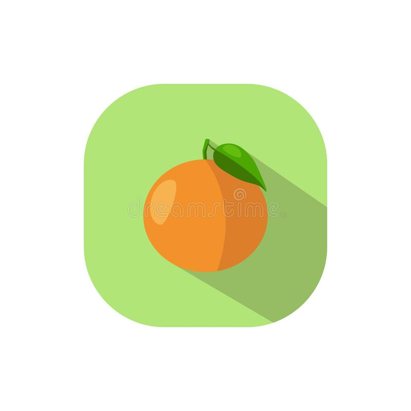 Mandarina plana del diseño stock de ilustración