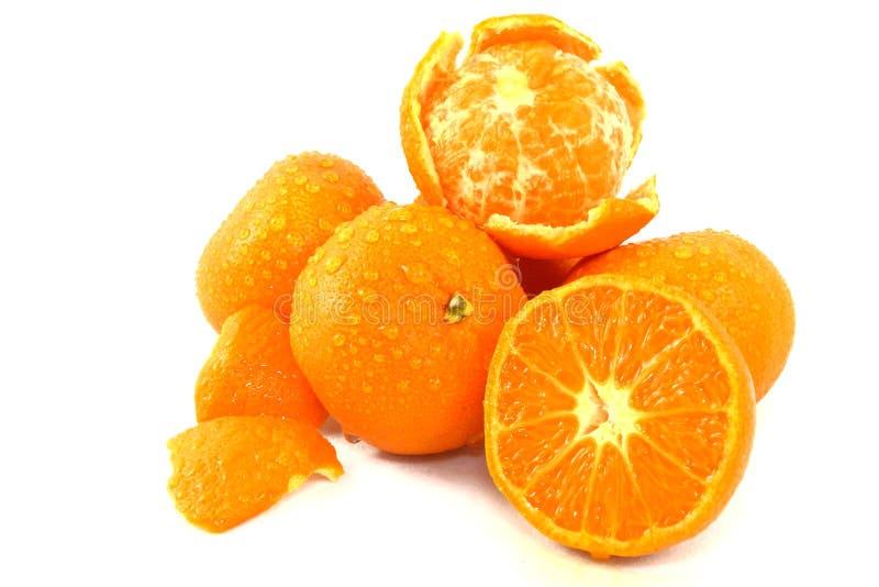 Mandarinas en blanco foto de archivo