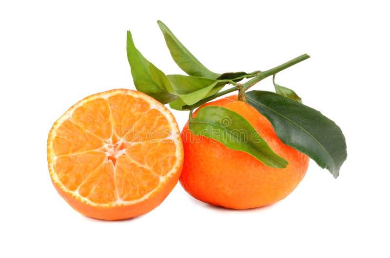 Mandarinas maduras fotos de archivo
