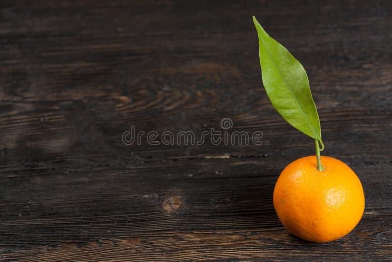 Mandarine avec feuilles images libres de droits