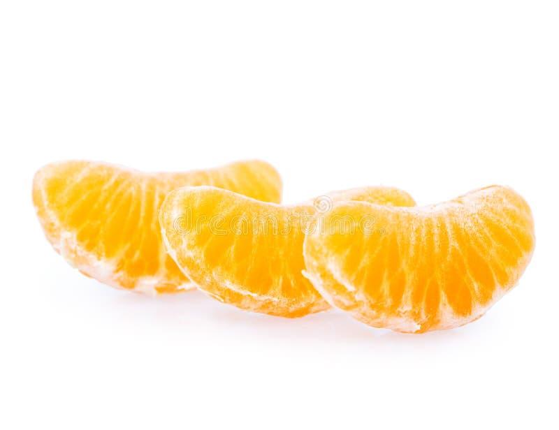 Mandarine d'isolement sur le blanc photos libres de droits