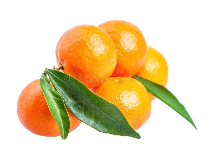 Mandarine d'isolement sur le blanc photo stock