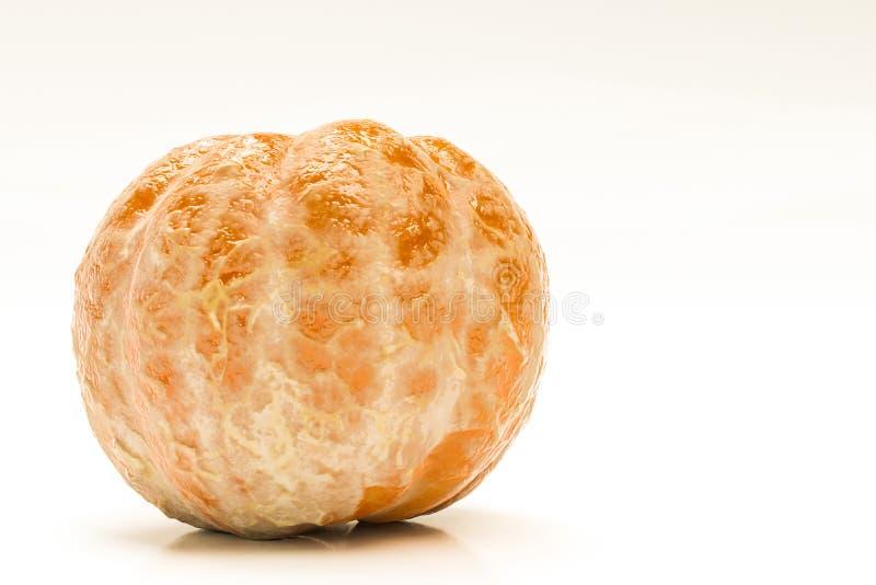 Mandarine d'isolement sur le fond blanc illustration stock