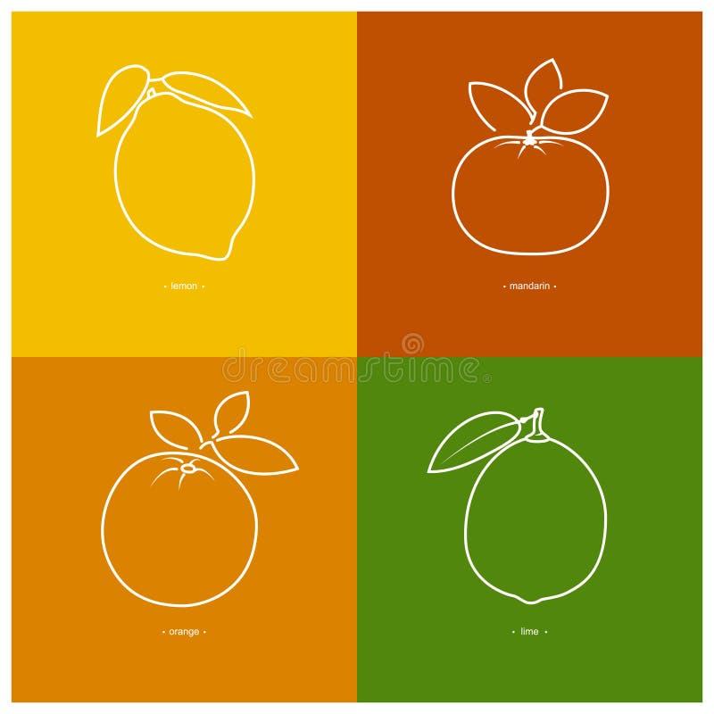 Download Mandarine, Orange, Citron, Chaux Illustration de Vecteur - Illustration du fruité, mangez: 56480945