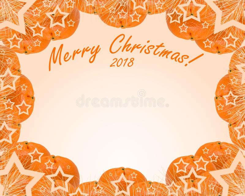 Mandarinen auf einem orange Hintergrund stockbilder