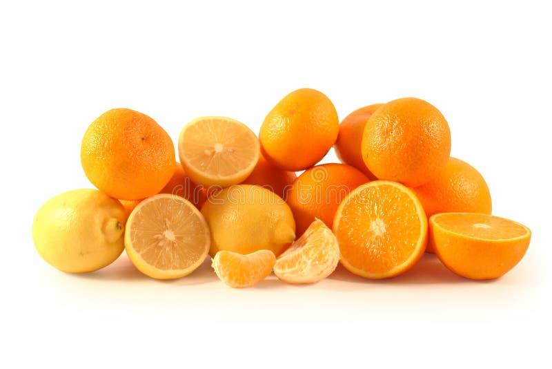 Mandarinen, Zitronen und Orangen lizenzfreie stockbilder