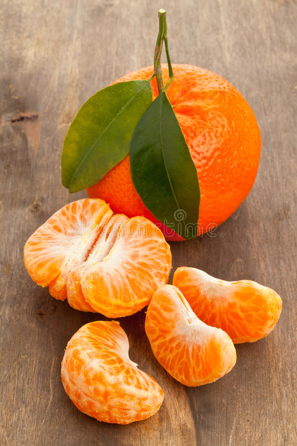 Mandarinenscheiben stockbild