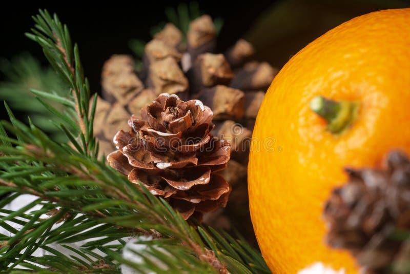 Mandarines como símbolo del Año Nuevo imagen de archivo
