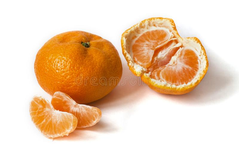Mandarines d'isolement sur le fond blanc photo libre de droits