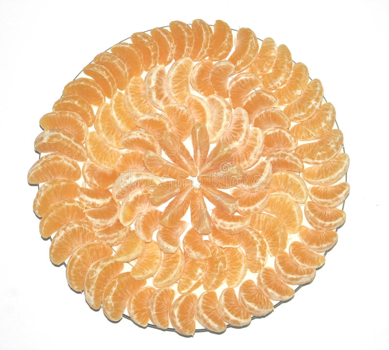 Mandarines d'un plat photographie stock libre de droits
