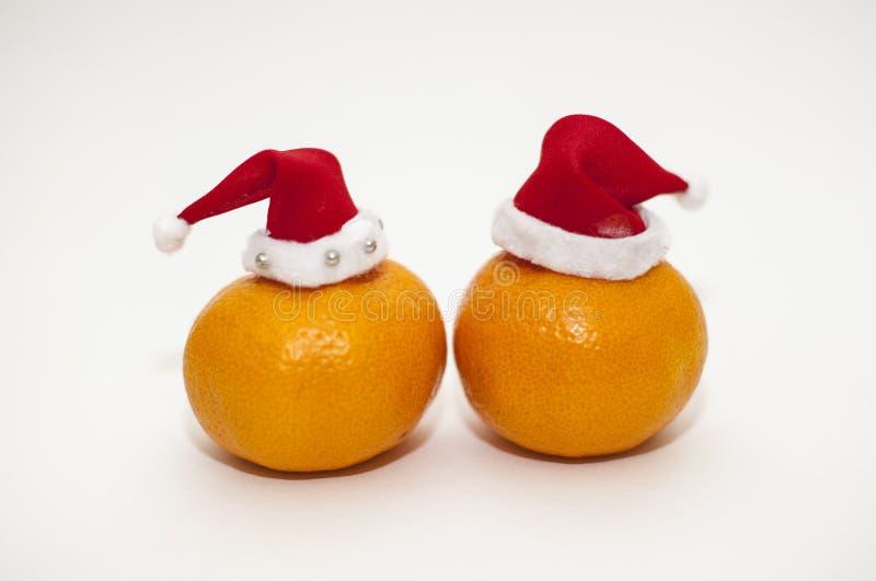 Mandarines de la Navidad fotografía de archivo libre de regalías