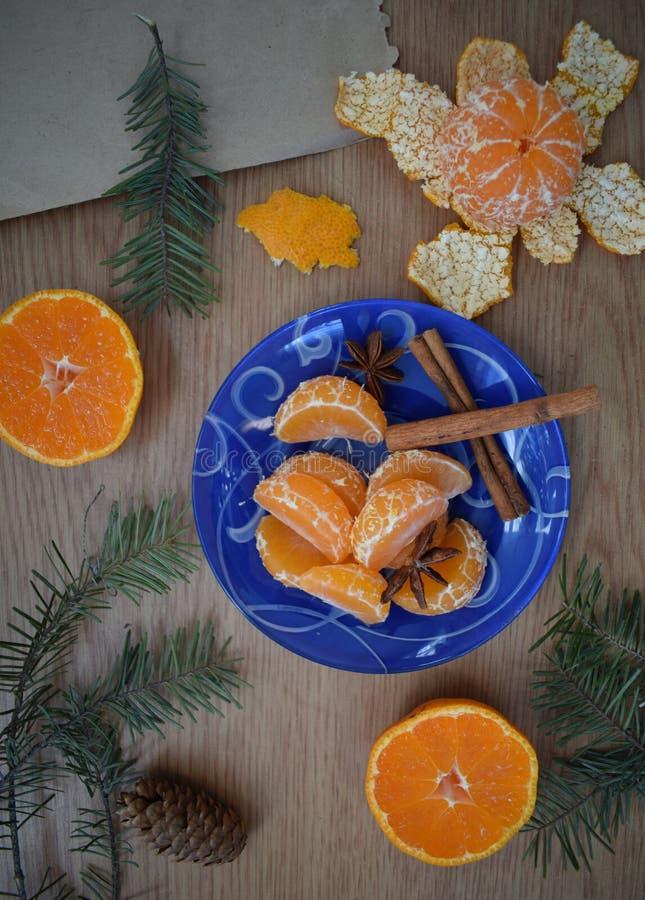 Mandarines et cannelle photo libre de droits