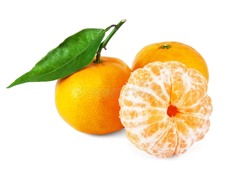 Mandarines juteuses fraîches photos stock
