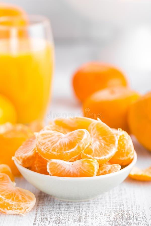 Mandarines pelados frescos, mandarinas fotos de archivo libres de regalías