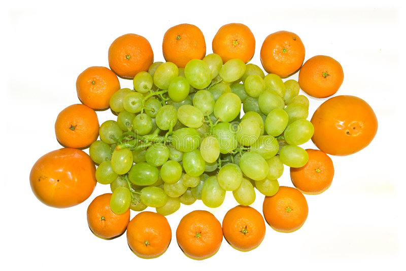 Mandarines And Vine Royalty Free Stock Images