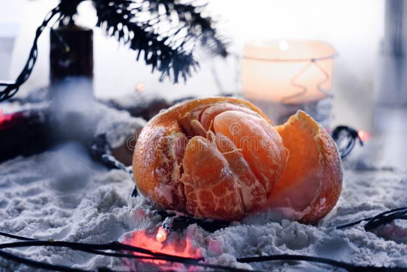Mandarino del nuovo anno fotografie stock