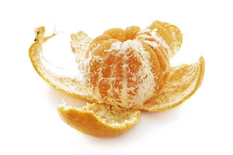 Mandarino sbucciato immagine stock libera da diritti