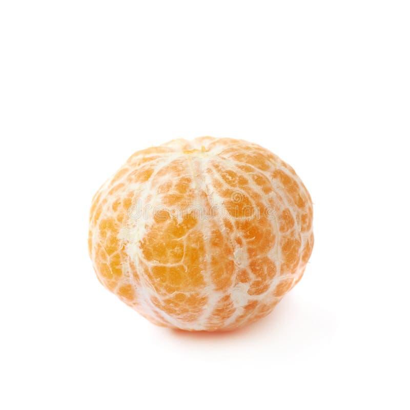 Mandarino sbucciato isolato fotografia stock