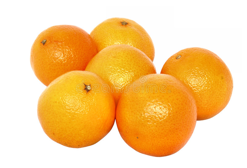 Mandarins - zuivere witte achtergrond royalty-vrije stock afbeelding