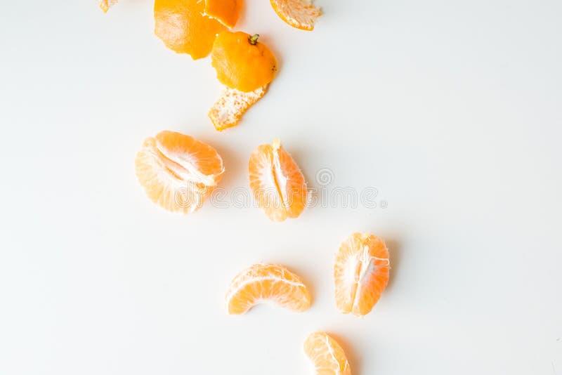 Mandarinsegment från över arkivbilder