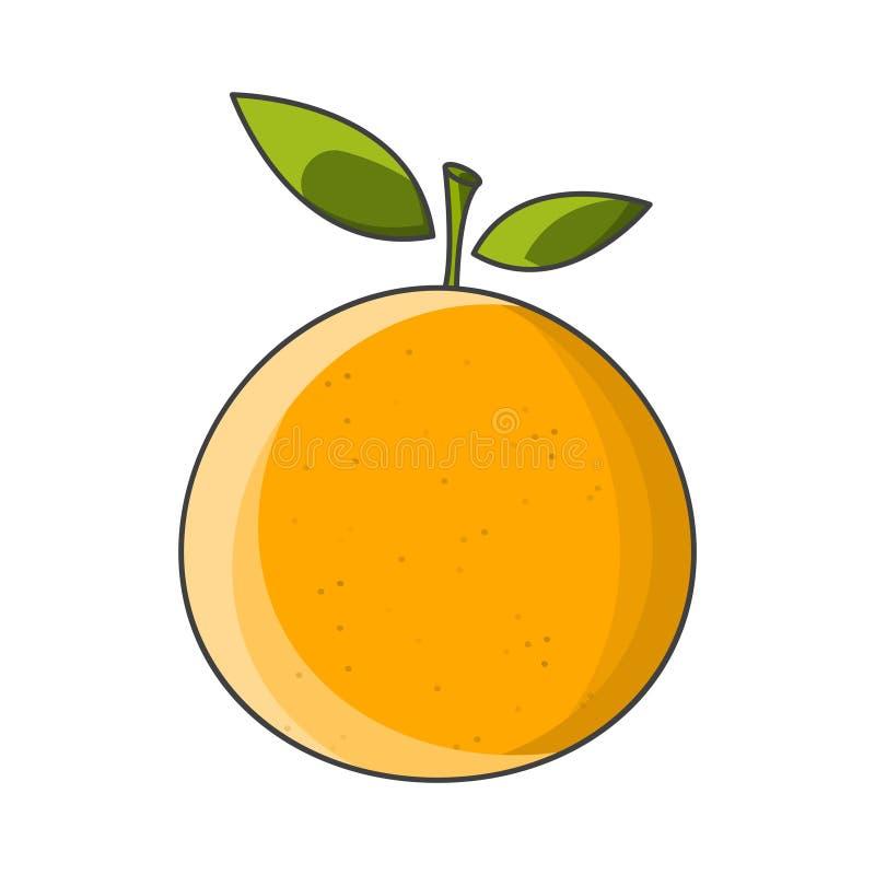 mandarinsymbol white för vektor för bakgrundsillustrationhaj Isolerad teckning vektor illustrationer
