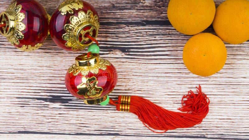 Mandarynu lampionu i pomarańcze zbliżenia Chiński nowego roku tła pojęcie zdjęcie royalty free