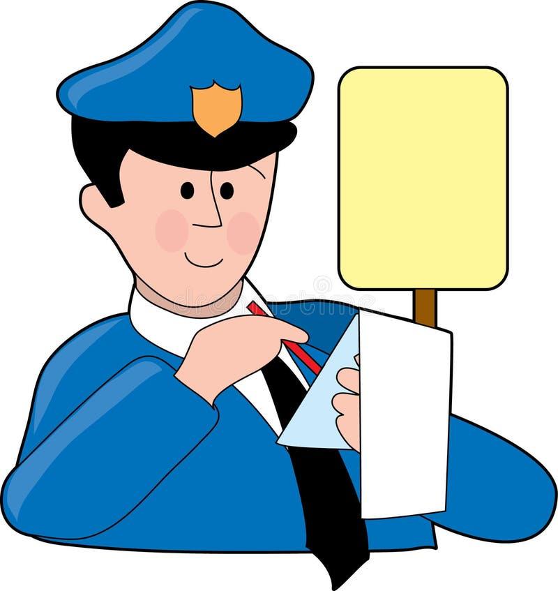 mandat za parkowanie royalty ilustracja