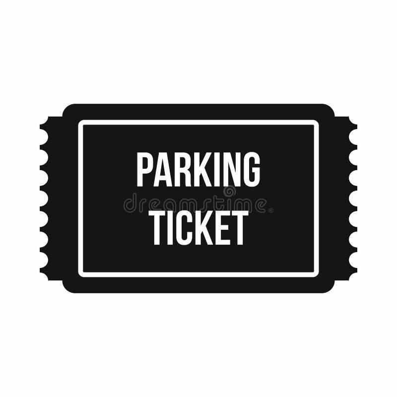Mandat za złe parkowanie ikona, prosty styl ilustracji