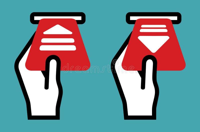 Mandat za złe parkowanie znak ilustracja wektor