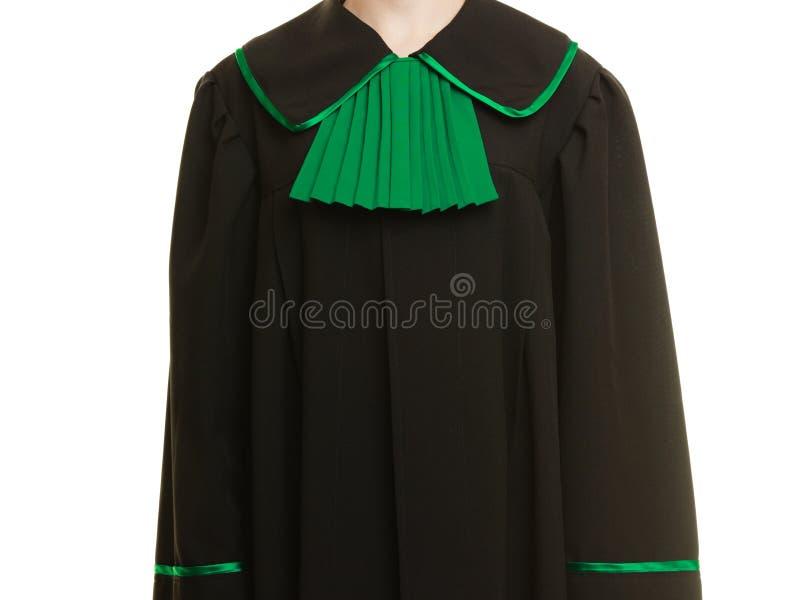 Mandataire d'avocate de femme utilisant la robe verte noire photo libre de droits
