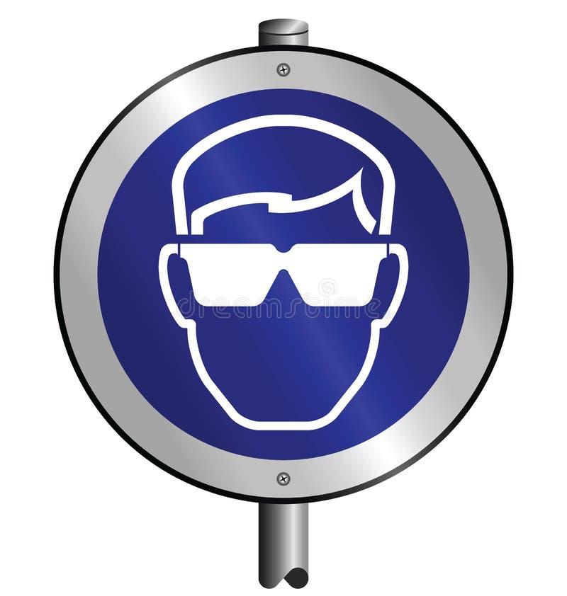 Download Mandatory Goggles Sign Stock Image - Image: 13295141