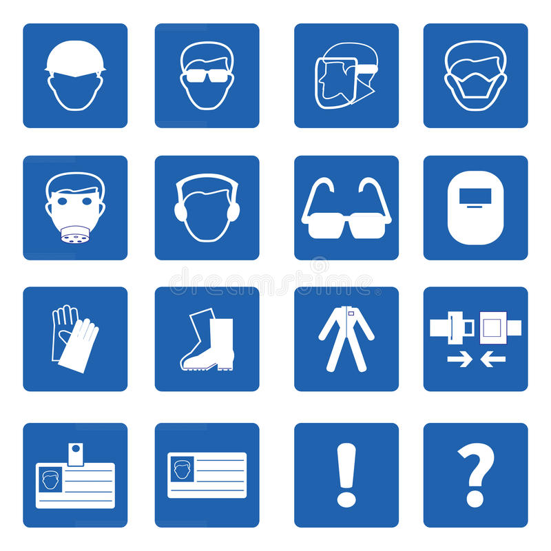 Mandatory signs, Construction health and safety,Vector stock illustration