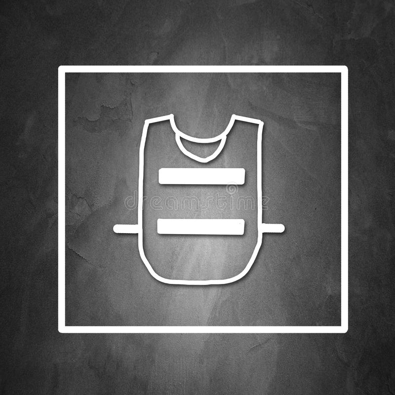 Mandatory wear protection royalty free illustration