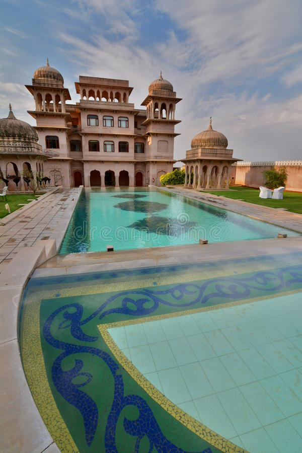 Mandawa castle. Rajasthan. India. Mandawa is a town in the Rajasthan state of India. It is part of Shekhawati region. This town has been referred to as the open stock photos