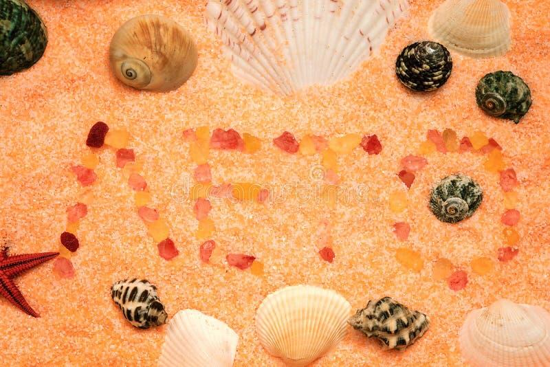 Mande un SMS al verano de la palabra fotografía de archivo libre de regalías