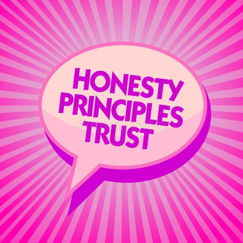 Mande un SMS a la muestra que muestra a confianza de los principios de la honradez la foto conceptual que cree alguien las palabr ilustración del vector