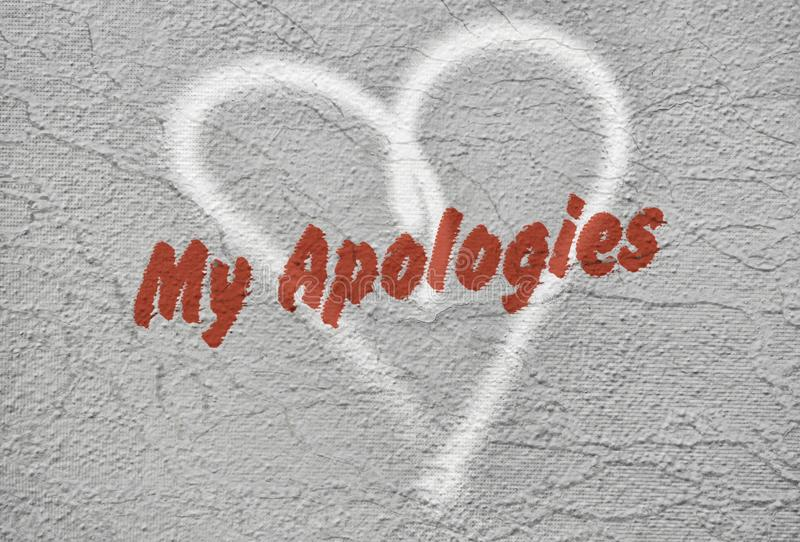 Mande un SMS a mis disculpas imagen de archivo
