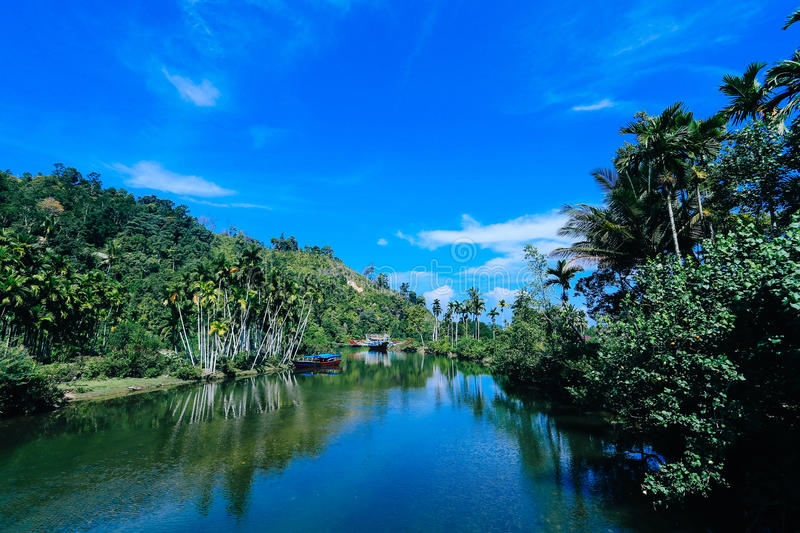 Mandeh village indonesia stock images
