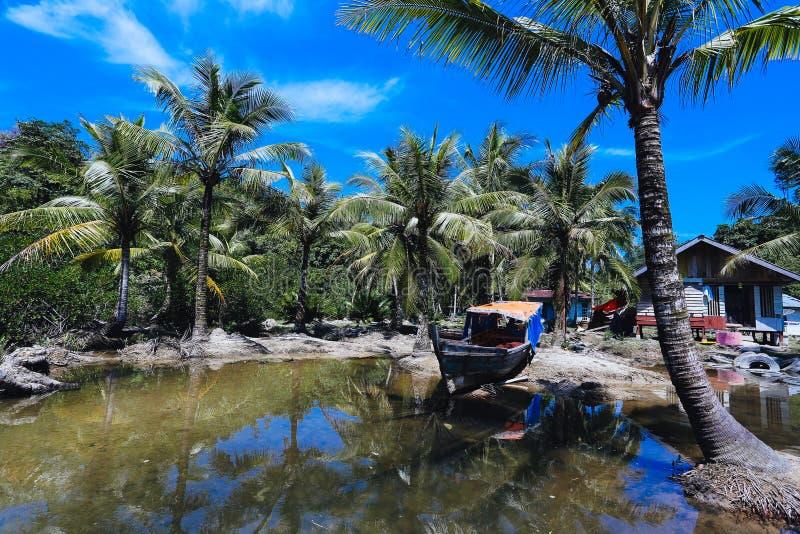Mandeh wioska Indonesia zdjęcia stock