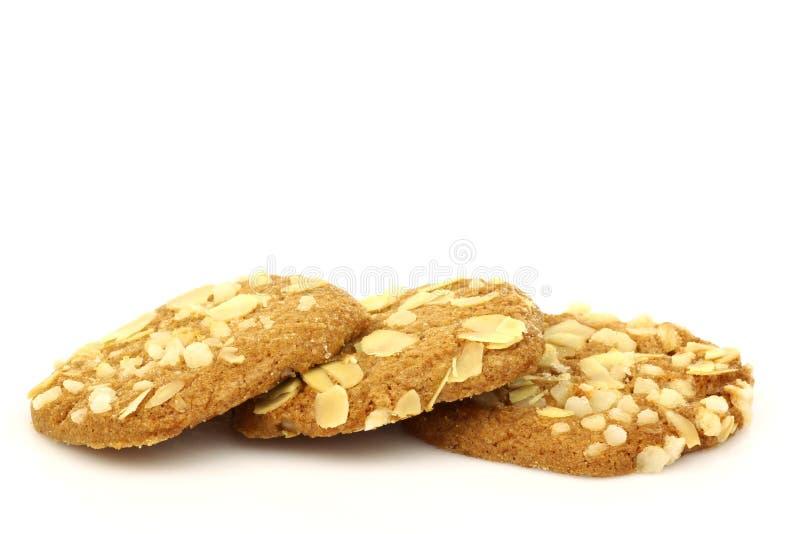 mandel bakade chipkakor nytt arkivfoto