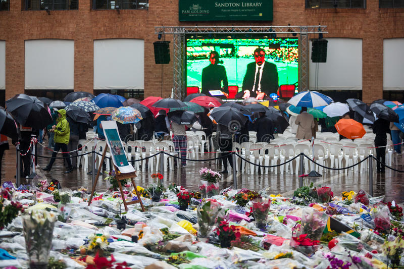 Download Mandela memorial day editorial photo. Image of flowers - 35891681