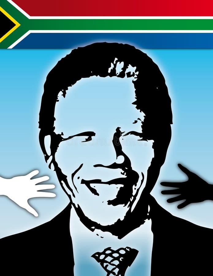 Mandela Sydafrika vektor illustrationer
